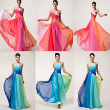 CA HOT Long Prom COLORFUL Chiffon Dresses Party/Evening/Formal Gowns Cocktail