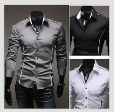 New Design Mens Shirts High Quality Casual Slim Fit style Dress Shirts