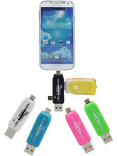 OTG 2in1 Micro USB Adapter TF Card Reader Hub For Tablet Samsung S3 S4 Note 2 3