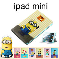 Ipad mini Despicable Me 2 Minions Smart Leather Stand Case Cover Skin Apple