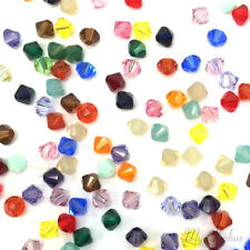 Genuine Swarovski crystal 5328 / 5301 Loose Bicone Beads 4mm Mix Color