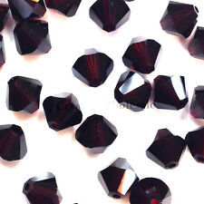 3mm Garnet (284) Genuine Swarovski crystal 5328 / 5301 Loose Bicone Beads