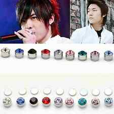 1 x Unisex Non Piercing Clip Earrings Rhinestone Jewlery Women Mens Magnet Stud