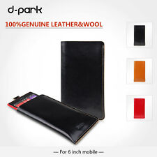 d-park Genuine Leather Pouch Bag Sleeve Case For GALAXY Note 3&5-6 inch Moblie