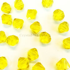 5mm Citrine (249) Genuine Swarovski crystal 5328 / 5301 Loose Bicone Beads