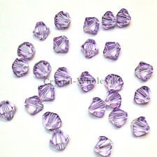 5mm Violet (371) Genuine Swarovski crystal 5328 / 5301 Loose Bicone Beads