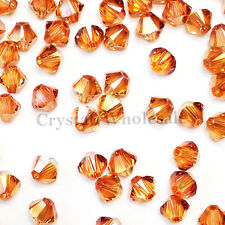 6mm Crystal Copper Genuine Swarovski crystal 5328 / 5301 Loose Bicone Beads