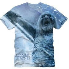 NWT Game of Thrones Sublimated All Over Print White Walker Adult T-Shirt