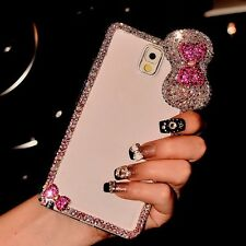 01 Cute Luxury Bling Crystal Diamond Hard Case Cover for iPhone/ Samsung Galaxy