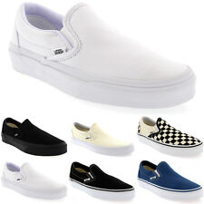 Mens Vans Classic Slip Canvas Slip On Casual Plimsolls Trainers Shoes UK 7-13