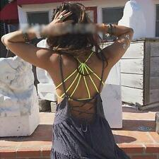 Lady Yoga Padded Bra Crop Tops Vest Sexy Cut Out Shirt Summer Beach Tank Top