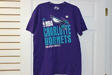 """Adidas """"B"""" Grade Charlotte Hornets Royal Purple With Big Tel Letters And Logo"""