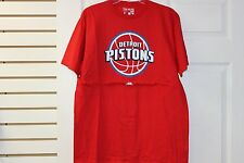 "Adidas ""B"" Grade Detroit Pistons Red With Whit/Blue Letters Size Large"