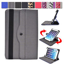 """Universal AR2 360 Rotating Folding Folio Stand Cover fits 7"""" Tablets E-Readers"""