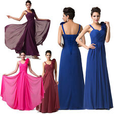 2014 CHEAP~~Long Chiffon Prom Party Wedding Ball Gown Bridesmaid Evening Dresses