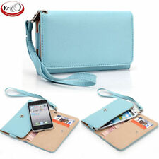 Universal SmartPhone Wallet Carry Case Cover w/ Strap for Samsung Galaxy S Blaze