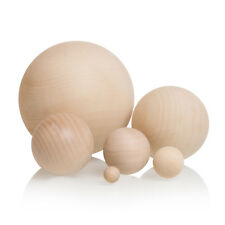 Natural Wooden Craft Wood Balls Sphere 10mm to 75mm Diameter