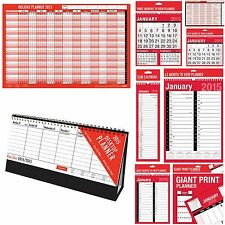 2015 Calendars Wall Holiday Planners Desk Flip Top Agenda Monthly Commercial