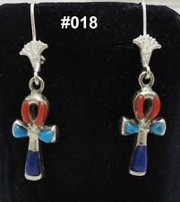Hall marked Egyptian, Pharaonic, Authentic Silver Earrings,variety ,Scarab,Ankh
