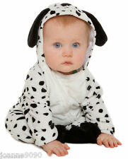 NEW DELUXE BOYS GIRLS BABY GROW TODDLER DALMATION PUPPY DOG FANCY DRESS COSTUME
