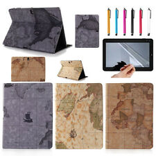 Retro World Map Leather Case Cover For Samsung Galaxy Tab Pro 10.1 SM-T520 T525