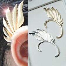 Fashion Gothic Punk Rock Metal Fairy Wing Ear Cuff Wrap Clip on Ear Stud Earring
