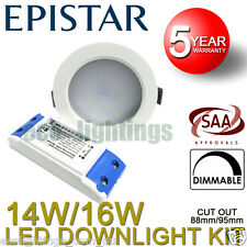 Led Dimmable Downlight Complete Kit Ceiling Bulb SMD 11W 14W 16W Warm Cool CBUS