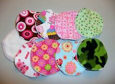 Organic Bamboo Nursing Pads - Set of 2 Handmade Washable Reusable Pads 9 Styles