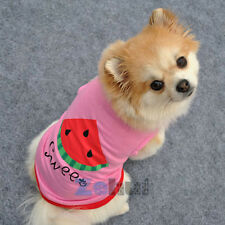 Summer New Pet Clothes Small Dog Breathable Shirt  Puppy Letter Vest Watermelon