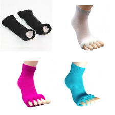 Soft Yoga Gym Massage Five Toe Separator Foot Socks Alignment Foot Pain Relief