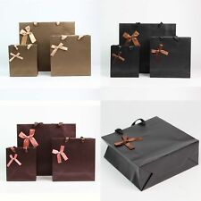 1Pc Kraft Gift Wrapping Handle Bags Party Wedding Paper Bags 3 Color Large/Small