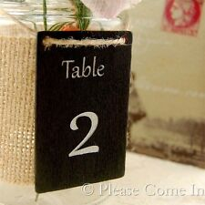 Mason Jar Centerpiece Blackboard/Chalkboard Wedding Table Numbers