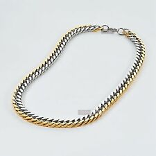 Gold silver necklace stainless steel mens chain solid heavy thick top quality