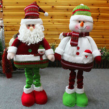 "Hot 26"" Large Fabric Standing Santa Claus/Snowman Christmas Doll Ornaments Gift"