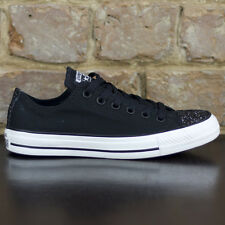 Converse CT AS Ox Low Trainers New in box Black Glitter UK Size 3,4,5,6