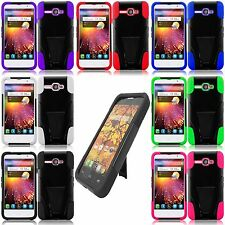 ALCATEL ONE TOUCH SONIC LTE 2-Layer Hybrid tuff Hard Stand Gel Cover Phone Case