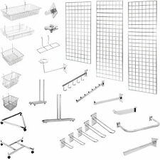 NEW MESH PANEL | GRID MESH HOOKS PRONGS CHROME ACCESSORIES | SHOP DISPLAY STAND