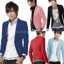 Fashion Men's Slim Fit Suit Stylish Casual One Button Coat Jacket Blazer M- 3XL