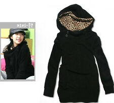 Women Hoodie Sweatshirt Leopard Tops Blouses Sweater Pullover Outerwear Coat