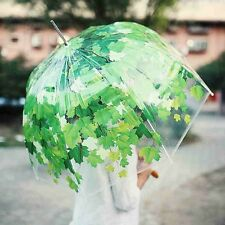 Transparent Green shade Dome umbrella semiautomatic Strong Windproof Standard