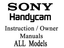 Sony Handycam User Guide Instruction Manual All Models of DCR SX