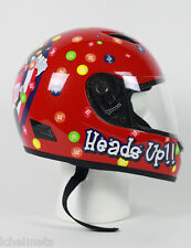 MODMM - M&M Licensed Full Face RED Childrens Motorcycle Helmet