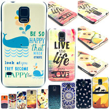 PC Hard Stylish Paint Phone Back Skin Case Cover For Samsung Galaxy S5 S V i9600