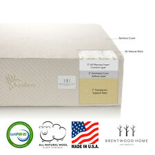 "Brentwood 12"" HD Memory Foam Mattress, Made in USA, CertiPUR-US"