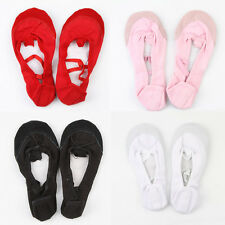Canvas Fitness Ballet Dance Shoes Slippers Toddler-Adult Black/White/Red/Pink