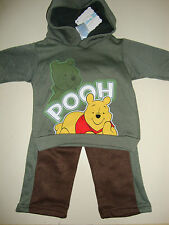DISNEY POOH SWEAT STYLED HOODIE JACKET & PANTS NWTS NEW FOR FALL