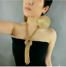 Korean Style Exaggerate Metal Tassels Long Necklace Fashion Necklace