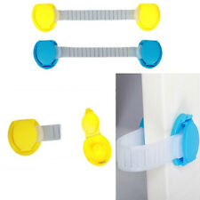 10x Yellow&Blue ABS Door Drawer Cabinet Children Safty Bumpping-proof Lock Lot