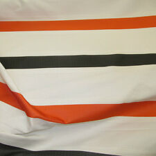 ☆Vogue By SMD Striped Orange Designer Curtain Fabric Roll £9.99 m -137cm-Wide ☆