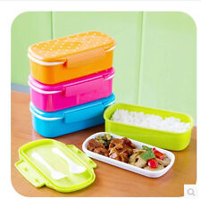 Small and pure and fresh wave point single dot candy colors Plastic lunch box